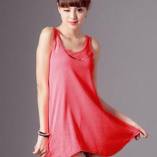 CUTIE FASHION - Chain-Neck Tank Top