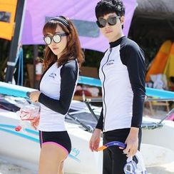 Sunset Hours - Couple Matching Rashguard / Hooded Rashguard