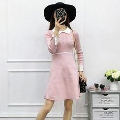 Be Bonita - A-Line Knit Dress