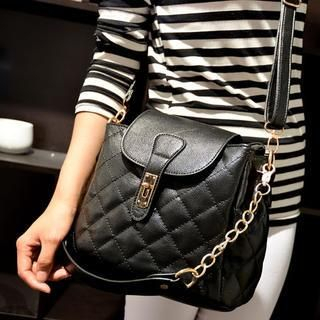 19th Street - Quilted Twist-Lock Shoulder Bag