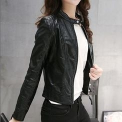 Polpetta - Faux-Leather Zip Jacket