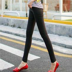 Keylook - 纯色窄身裤