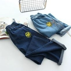 Vateddy - Smiley Washed Jeans