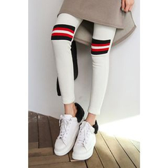 PPGIRL - Contrast-Trim Leggings