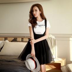 Dabuwawa - A-line Tulle Jumper Skirt