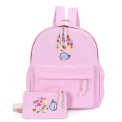 Crystal - Whale Print Backpack with Zip Pouch