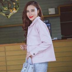 Daiyake - Plain Snap-Button Jacket