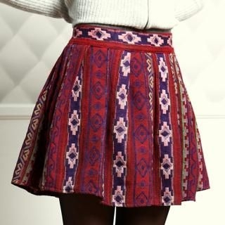 COOLHADA - Patterned A-Line Skirt