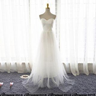idresses - Strapless A-Line Wedding Dress