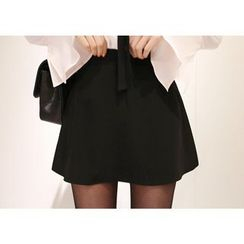 Marlangrouge - Inset Shorts A-Line Mini Skirt