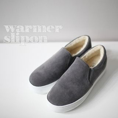 STYLEBYYAM - Faux Fur-Lined Slip-Ons