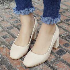 Gizmal Boots - Block Heel Pumps