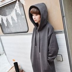 11.STREET - Fleece-Lined Hoodie Dress