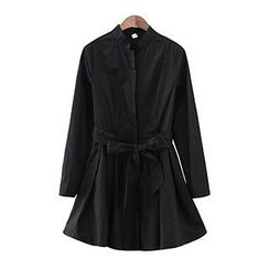 Sunny House - Tie-Waist A-Line Trench Coat