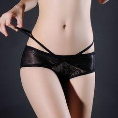 Croix - Lace Panel Strap Seamless Panties