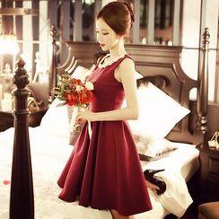 Dabuwawa - Sleeveless Pleated Dress