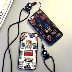 Cartoon Face - Printed Mobile Case with Neck Strap - Apple iPhone 6 / 6 Plus