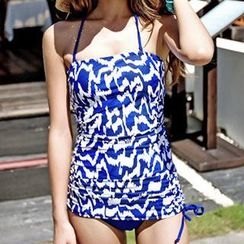 Zeta Swimwear - Set: Print Swim Top + Swim Shorts