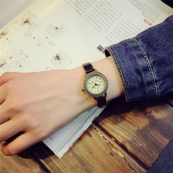 Mansfield - Faux Leather Strap Watch