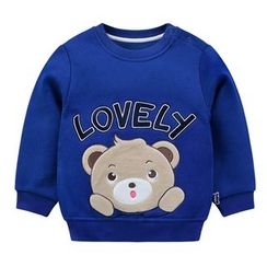 Ansel's - Kids Bear Applique Sweatshirt