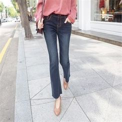Styleberry - Washed Boot-Cut Jeans
