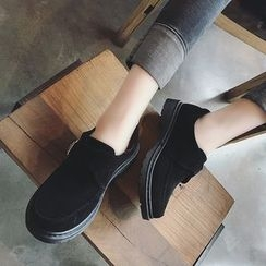 Hipsole - Faux-Suede Buckled Loafers