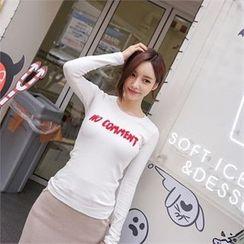 Babi n Pumkin - Lettering-Applique T-Shirt