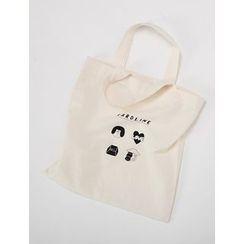FROMBEGINNING - Printed Cotton Shopper Bag
