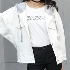 ONXZ - Hooded Denim Jacket