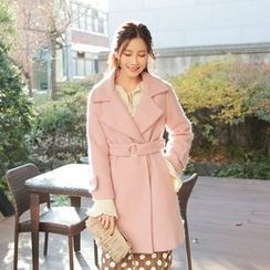 Cherryville - Quilted-Lined Coat with Belt