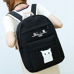 Sweet City - Cat Canvas Backpack