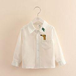 Seashells Kids - Kids Giraffe Embroidered Shirt