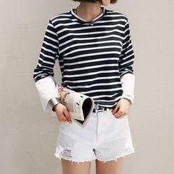 NANING9 - Cotton Stripe T-Shirt