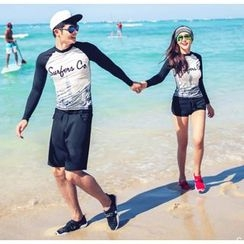 Blue Lagoon - Couple Matching Print Rashguard