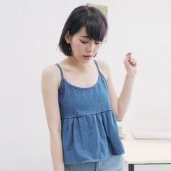 Tokyo Fashion - Flared Denim Camisole Top