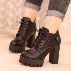 IYATO - 粗跟及踝靴