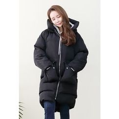 Dalkong - Hooded Zip-Up Thick Puffer Coat