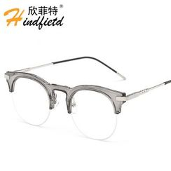 Koon - Half Frame Round Glasses