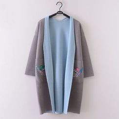 Tulander - Embroidered Long Cardigan
