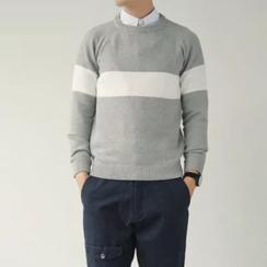 Chuoku - Color-Block Striped Sweater