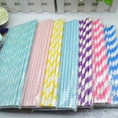 Bake & Give - Patterned Paper Drinking Straw Set