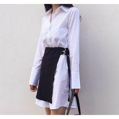 Arroba - Mock Two-Piece Shirtdress