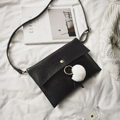 Rosanna Bags - Pompom Embossed Faux Leather Crossbody Bag