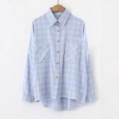 Meimei - 格子長袖襯衫