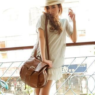 Fashion Lady - Convertible Buckle-Detail Backpack