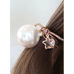 kitsch island - Faux-Pearl Hair Tie