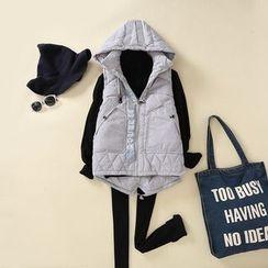 TOJI - Hooded Padded Paneled Zip Vest