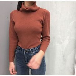 Bloombloom - Mock Neck Knit Pullover