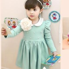 Cuckoo - Kids Peter Pan Collar Long Sleeves Dress