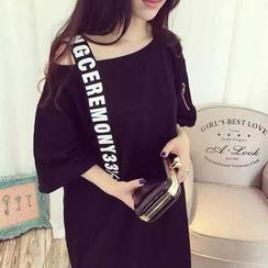 ENZA - 印字短袖T恤裙衣